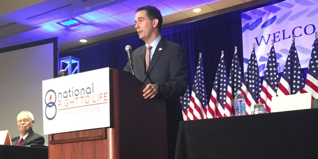 Governor Walker Credits Political Success to Pro-Life Movement