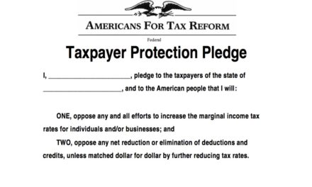Nicholson Takes the Taxpayer Protection Pledge