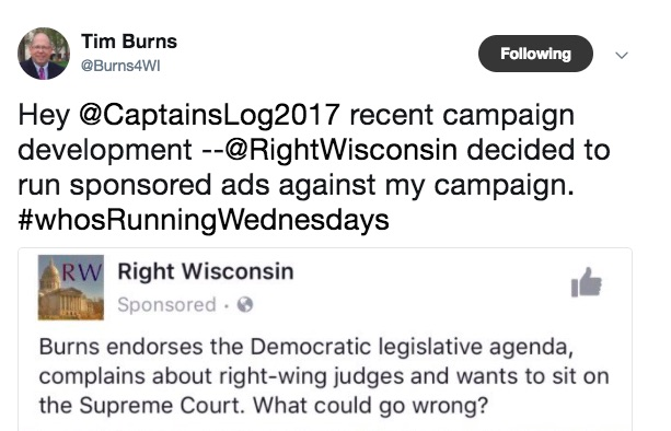 Tim Burns On Twitter Rant After RightWisconsin Editorial