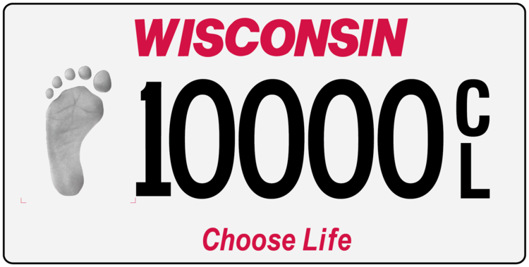 Choose Life License Plates Now Available from DOT