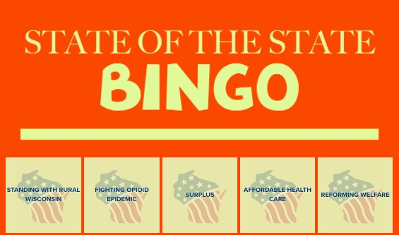 Wisconsin State of the State Bingo is Here
