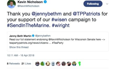 Nicholson Accepts Endorsement From Alleged Scam PAC Group That Endorsed Nehlen