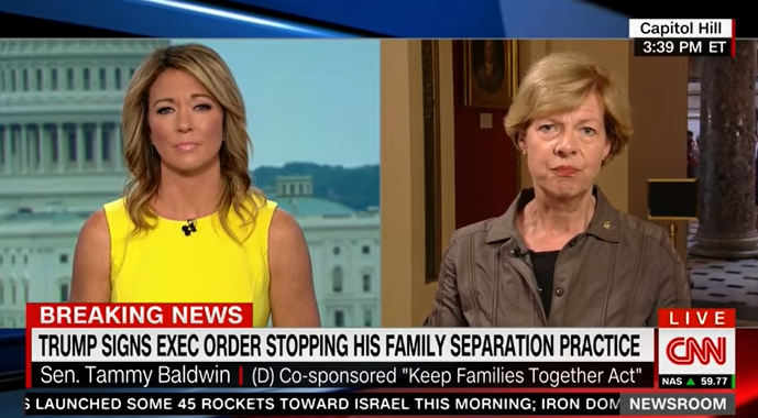 Baldwin Admits Double Standard On Family Separation Issue
