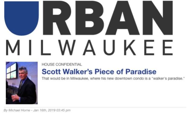 Urban Milwaukee Pulls Article on Walker Residence After Former Governor Harassed