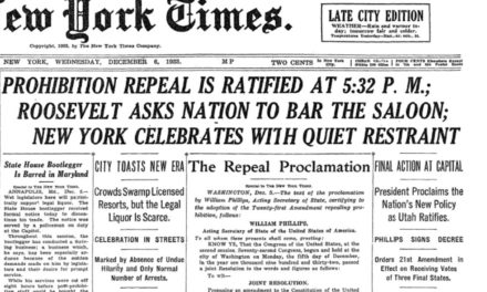 Prohibition Is Repealed!